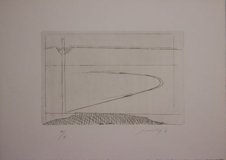 Etching And Aquatint Guccione - Zona d'ombra