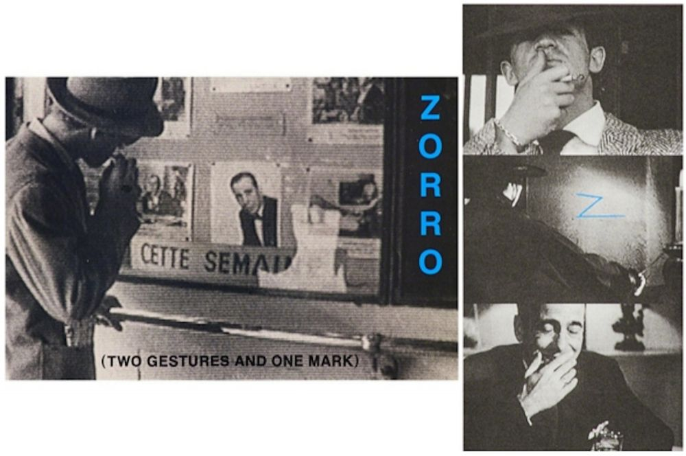 Lithograph Baldessari - Zorro (Two Gestures and One Mark)