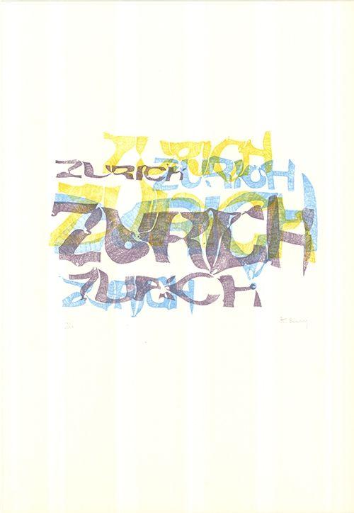 Lithograph Bury - Zurich