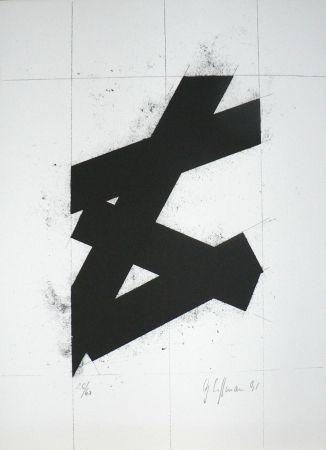 Lithograph Hoffmann -  Zwart
