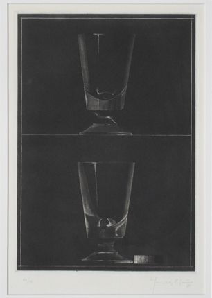 Aquatint Hernandez Pijuan - Zwei Gläser