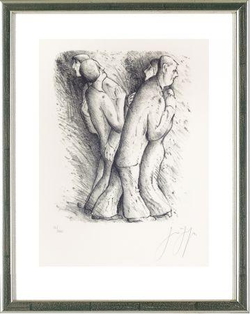 Lithograph Grass - Zwei tanzende Paare